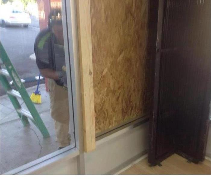 Vandalized Window in Mobile, AL After