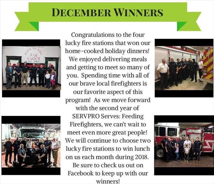 SERVPRO SERVES Holiday Dinners